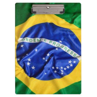ブラジルの旗のクリップボード クリップボード