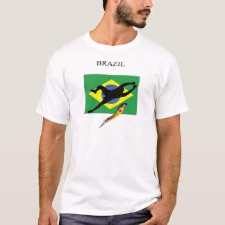 ブラジルの旗のゴールキーパー Tシャツ