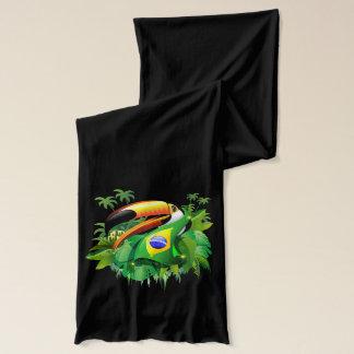ブラジルの旗のスカーフとのToco Toucan スカーフ