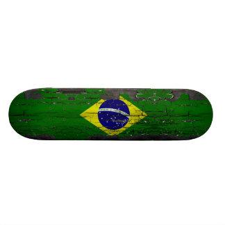ブラジルの旗のスケートのデッキ 18.7CM ミニスケートボードデッキ