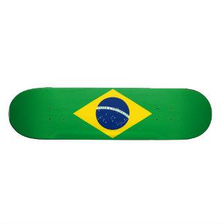 ブラジルの旗のスケートボード 21.6CM オールドスクールスケートボードデッキ