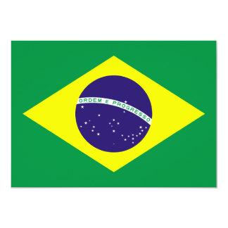 ブラジルの旗のデザイン カード