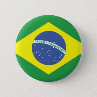 ブラジルの旗のデザイン 缶バッジ