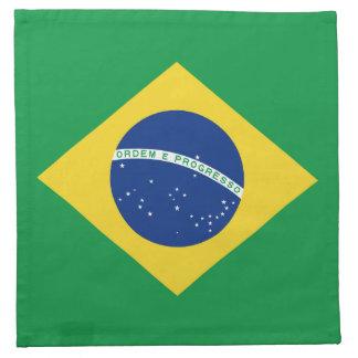ブラジルの旗のナプキン ナプキンクロス