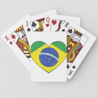 ブラジルの旗のハート トランプ