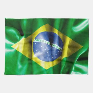 ブラジルの旗の台所タオル キッチンタオル