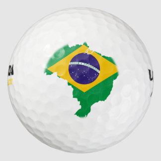 ブラジルの旗の地図 ゴルフボール