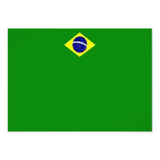 ブラジルの旗の景色の招待状 カード