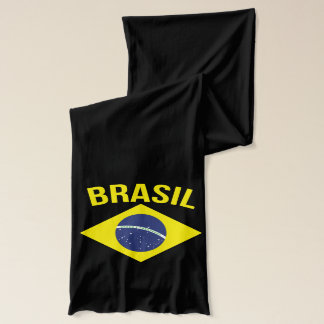ブラジルの旗の記号のグラフィックのスカーフ スカーフ