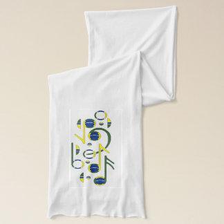 ブラジルの旗の音符のスカーフ スカーフ