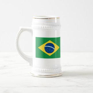 ブラジルの旗の~の地図のマグ ビールジョッキ