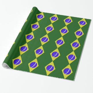 ブラジルの旗は包装紙を縞で飾ります ラッピングペーパー