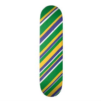 ブラジルの旗は着色されたストライプなパターンをインスパイア 20CM スケートボードデッキ