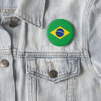 ブラジルの旗ボタン 缶バッジ