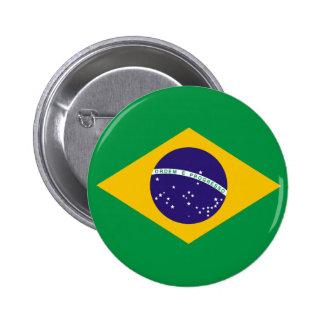 ブラジルの旗ボタン 5.7CM 丸型バッジ