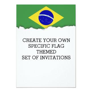 ブラジルの旗 カード