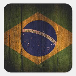ブラジルの旗 スクエアシール