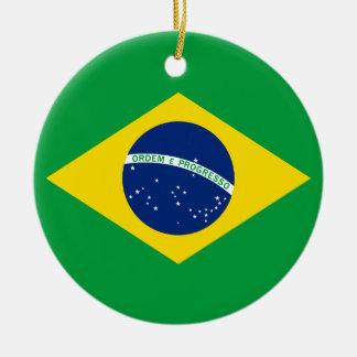 ブラジルの旗 セラミックオーナメント