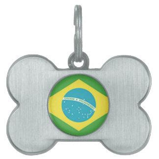 ブラジルの旗 ペットネームタグ