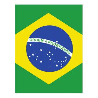ブラジルの旗 ポストカード