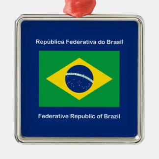 ブラジルの旗 メタルオーナメント