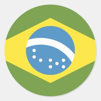 ブラジルの旗 ラウンドシール