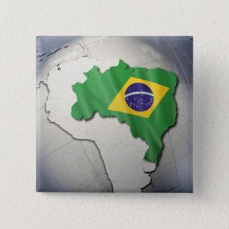 ブラジルの旗 缶バッジ