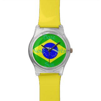 ブラジルの旗 腕時計