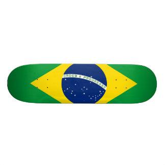 ブラジルの旗 18.1CM オールドスクールスケートボードデッキ