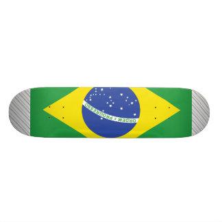 ブラジルの旗 20.6CM スケートボードデッキ