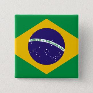 ブラジルの旗 5.1CM 正方形バッジ