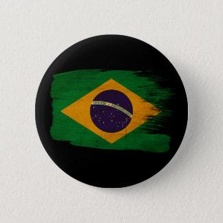 ブラジルの旗 5.7CM 丸型バッジ