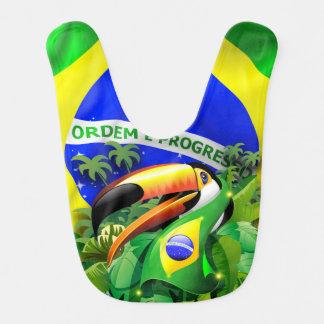 ブラジルの旗Baby_BibとのToco Toucan ベビービブ