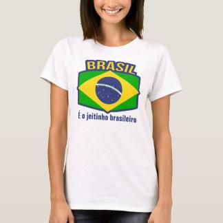ブラジルの旗É oのjeitinhoのbrasileiroのTシャツ Tシャツ