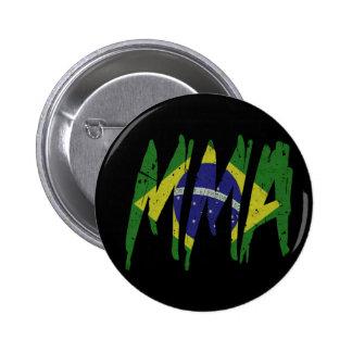 ブラジルの旗MMA 5.7CM 丸型バッジ