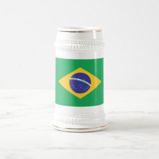 ブラジルの明白な旗 ビールジョッキ