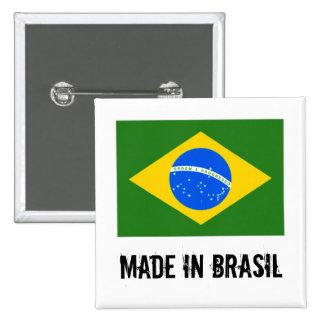 ブラジルの正方形ボタンで作られる 5.1CM 正方形バッジ