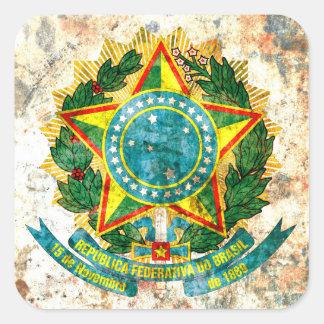 ブラジルの紋章付き外衣 スクエアシール
