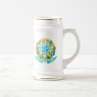 ブラジルの紋章付き外衣 ビールジョッキ