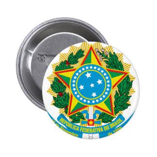ブラジルの紋章付き外衣 5.7CM 丸型バッジ