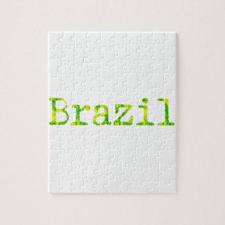 ブラジルの緑および黄色のフォント ジグソーパズル