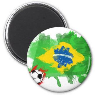 ブラジルの芸術的な旗-カスタマイズ可能なデザイン マグネット