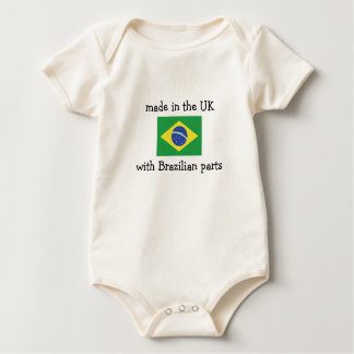 ブラジルの部品が付いているイギリスで作られる ベビーボディスーツ