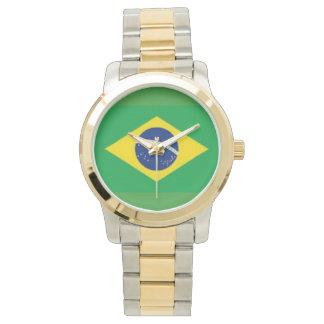 ブラジルの金ゴールドおよび銀製の調子の腕時計 腕時計