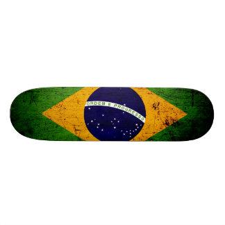 ブラジルの黒くグランジな旗 スケボー