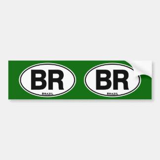 ブラジルのBRの楕円形の国際的なアイデンティティのコード文字 バンパーステッカー