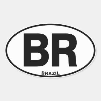 ブラジルのBRの楕円形の国際的なアイデンティティのコード文字 楕円形シール