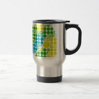 ブラジルカラー水玉のブラジル色の水玉模様 トラベルマグ