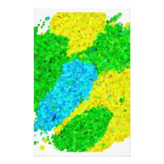 ブラジルカラー泡模様タイプのブラジル色の泡パターン 便箋