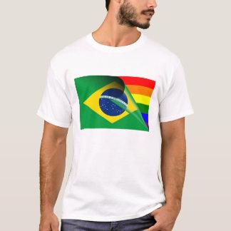 ブラジルゲイプライドの虹の旗 Tシャツ